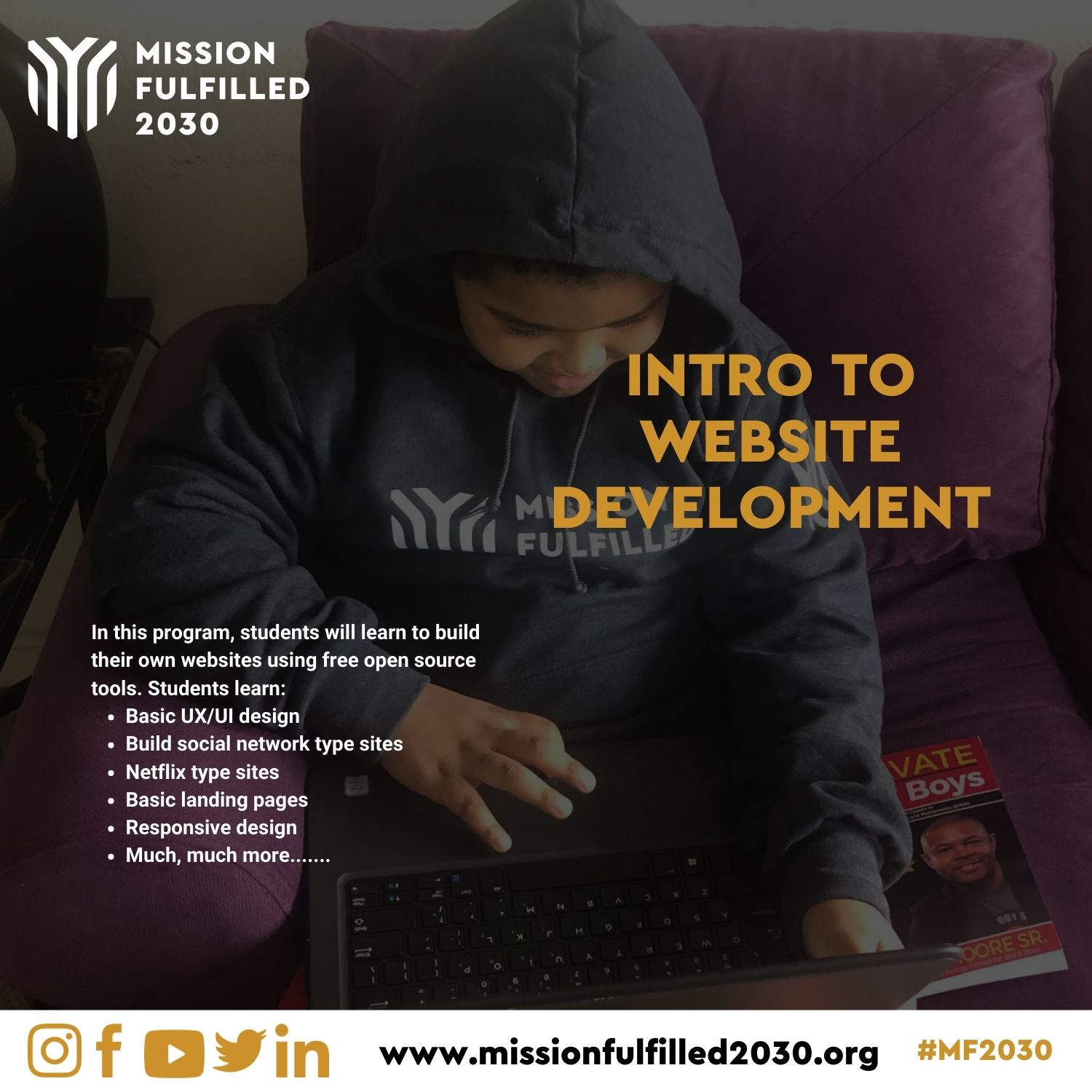 Mission Fulfilled 2030 Intro to Website Development Program